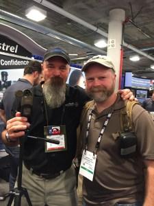 Sam Millard and Todd Hodnett at the 2016 SHOT Show