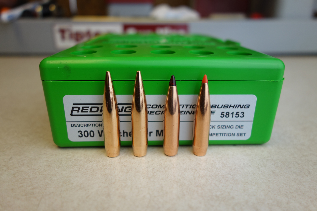 Bullets used for initial load development include Berger and Hornady.