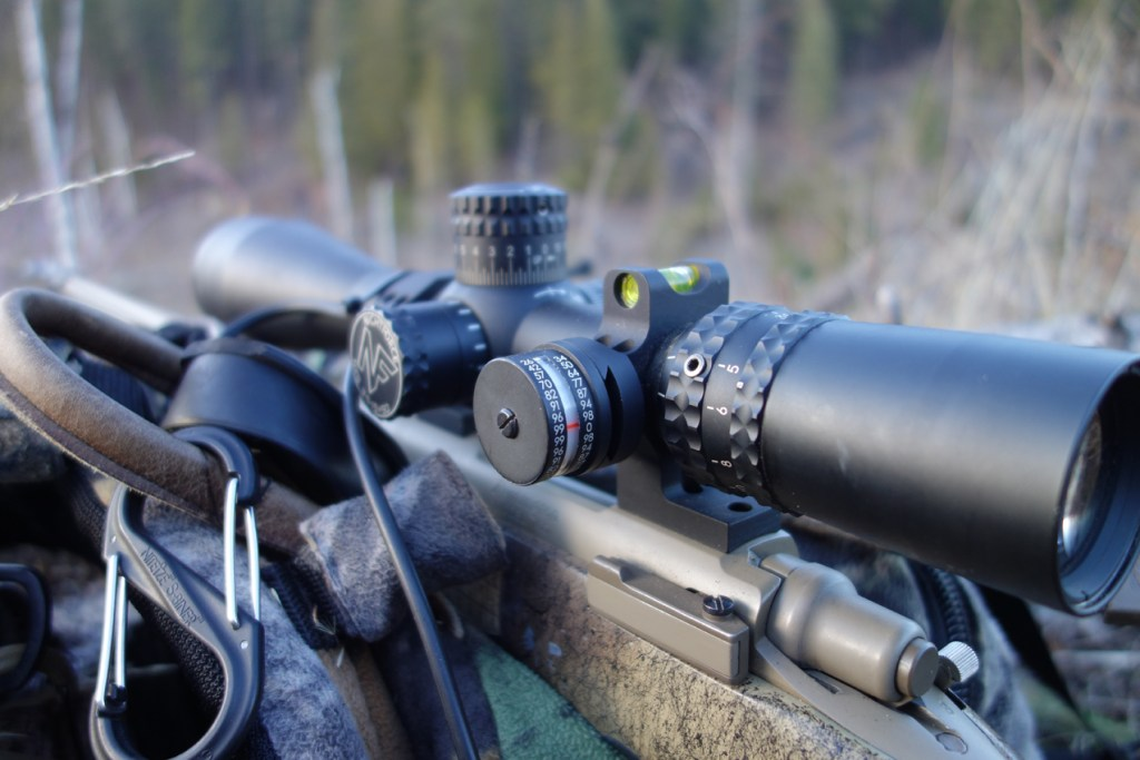 Nightforce NXS with Defensive Edge Scope Level and ACI Mount