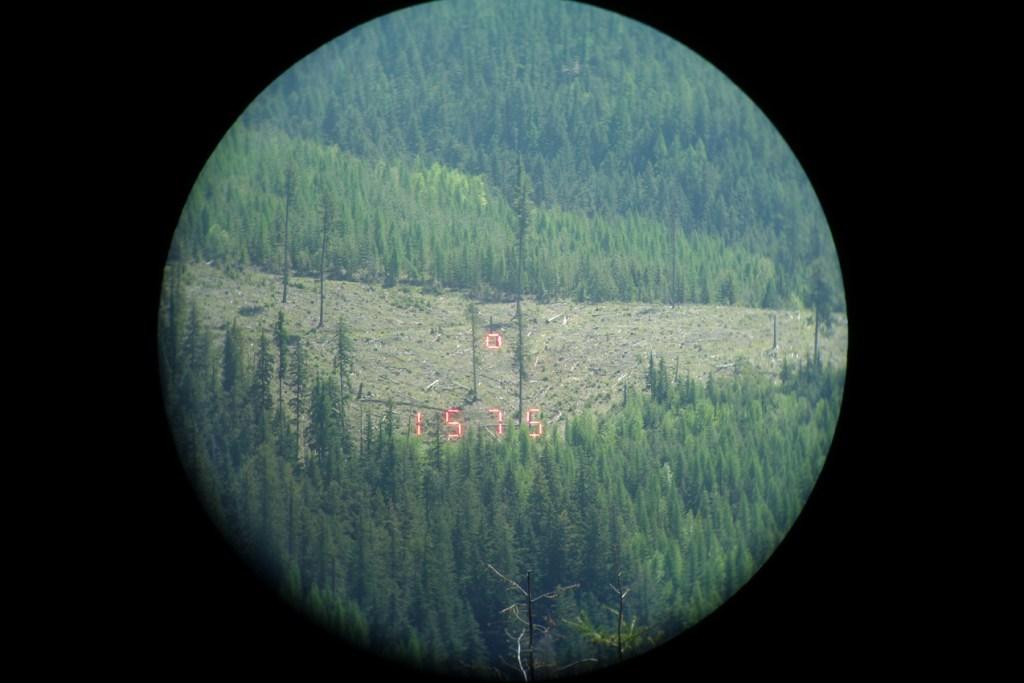 Leica 1600-B Screenshot at 1575 Yards