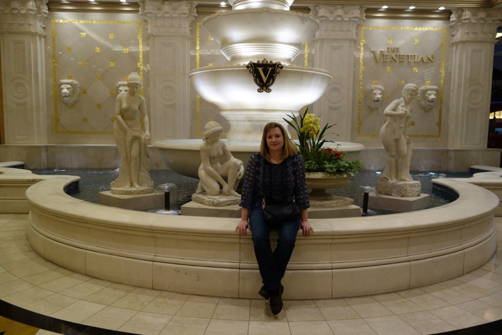 Kathy SHOT Show 2015 Venetian Fountain