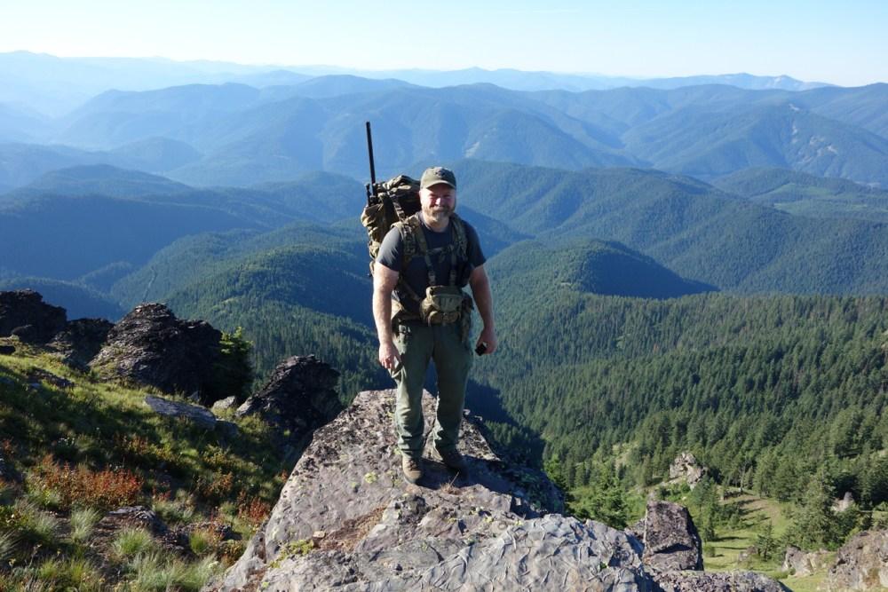 Sam with Long Range Pack Idaho Panhandle 2016