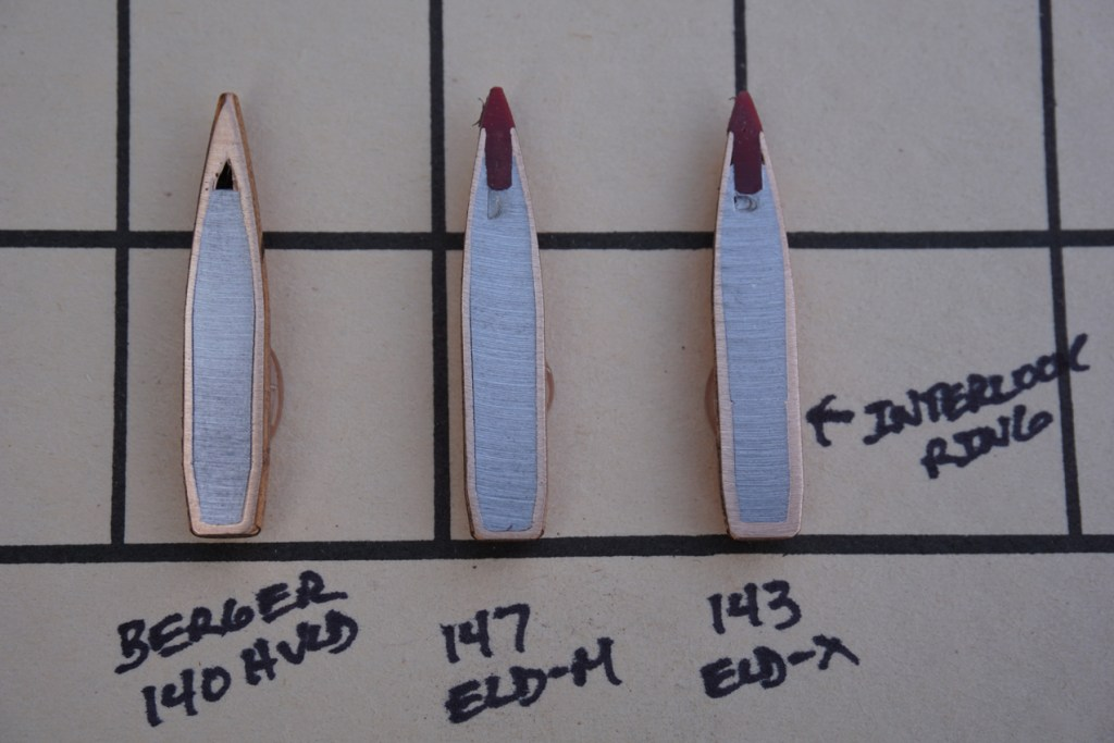 Cross Sectioned Hornady 143-grain ELD-X