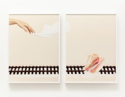 Uh‐Huh (Conch Shell), 2015; Archival pigment print in artist's frame; 15.5 x 20.5 inches each (diptych)