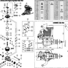 4 Stroke Petrol Engine Diagram R32 Rb20det Wiring Four Agricultural Engineering Parts Of