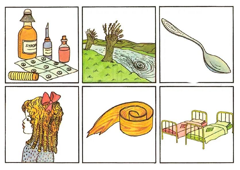 leki-loki, wir-wiór,łyżka-łózka