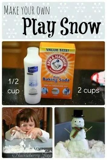 zimowe prace plastyczne - sztuczny śnieg