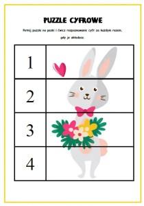 wielkanoc puzzle cyfrowe przedszkole