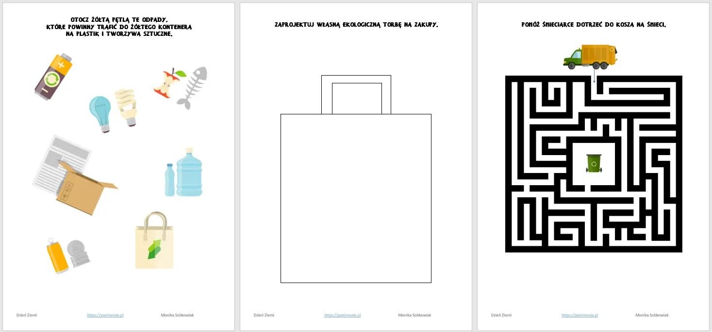 Dzień Ziemi - prezentacja, karty pracy i inspiracje - Pani Monia