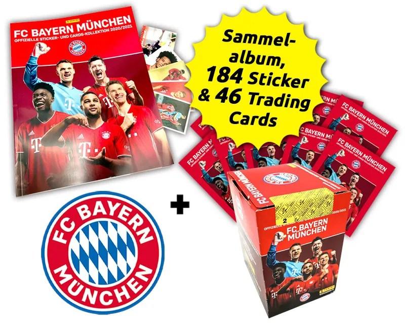 FC Bayern München - Offizielle Sticker- und Cards-Kollektion 2020/21 - Mega-Bundle