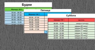 Расписание движения автобусов Метронит на июнь 2020г.