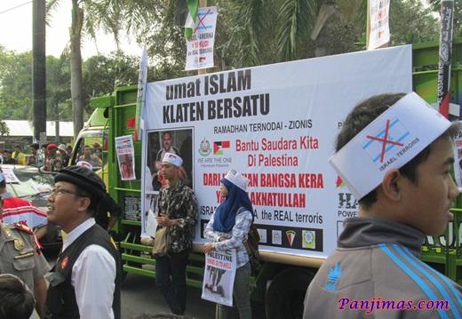 Foto Aksi Solidaritas & Penggalangan Dana Untuk Muslim Gaza di Klaten 4