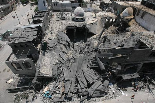 Zionis Israel Targetkan Masjid di Gaza 1