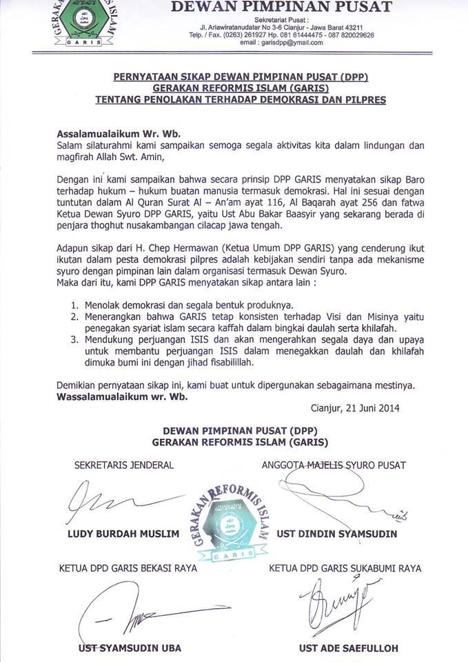 surat DPP GARIS