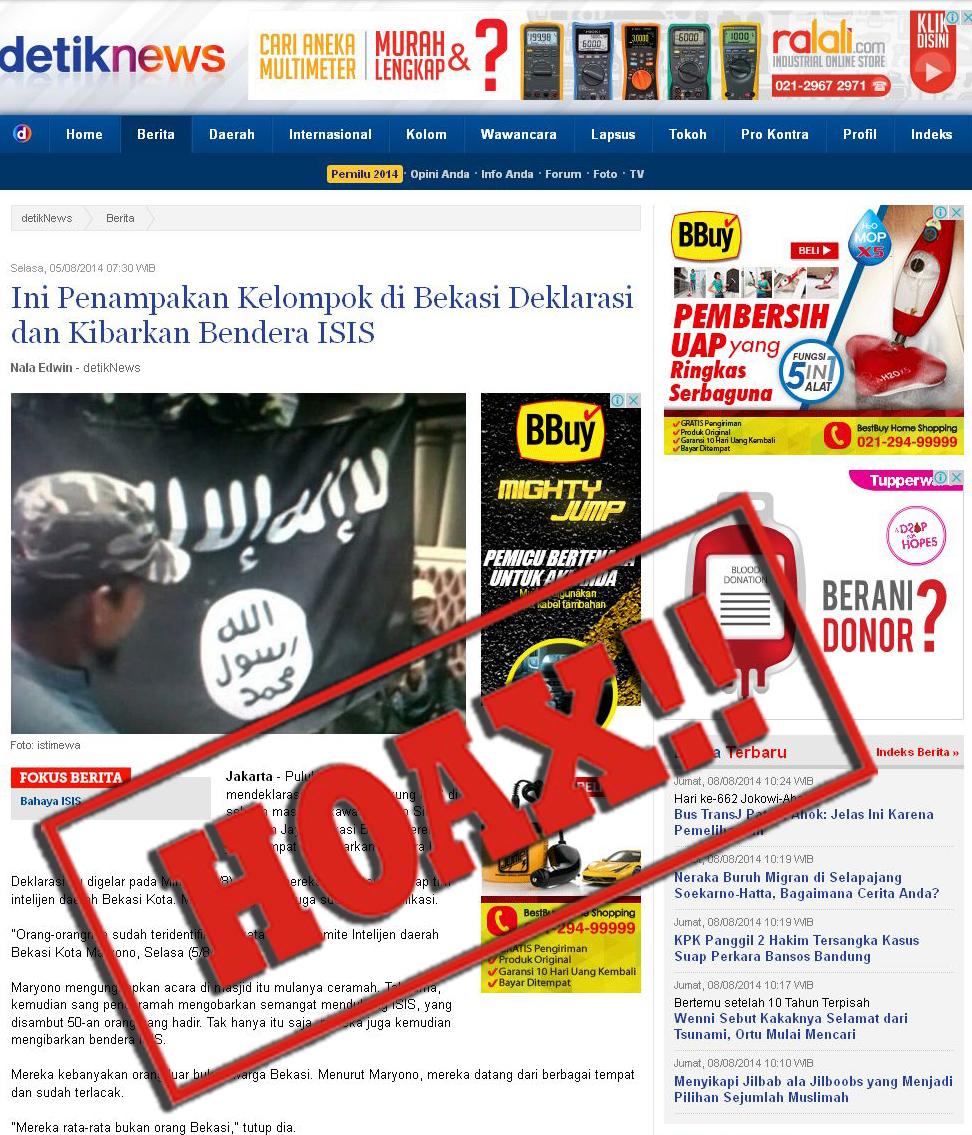 Detik.com berita HOAX kibarkan bendera ISIS