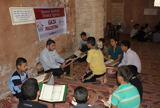 Markaz Tahfizh DAQU di Masjid Umari Gaza di Roket Israel 1