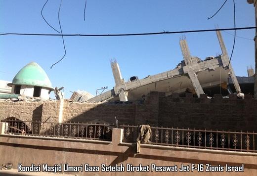 Markaz Tahfizh DAQU di Masjid Umari Gaza di Roket Israel 2