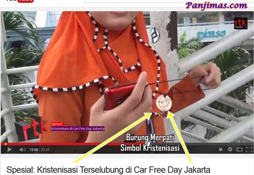 Kristenisasi Terselubung di CFD Jakarta Simbol Burung Merpati