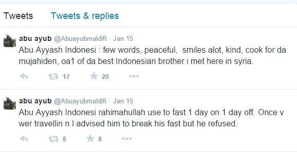 Abu Ayub Maldifi testimoni