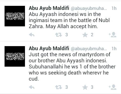pernyataan komandan Abu Ayub Maldifi