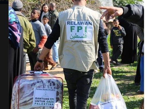 FPI Salurkan Bantuan pada Warga Gaza 1