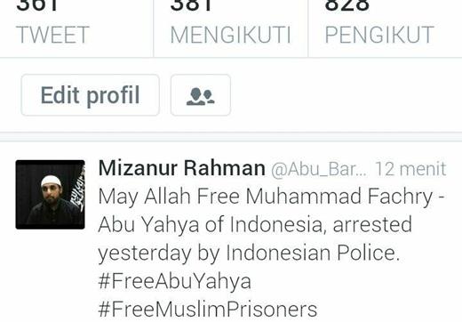 Dukungan Untuk M Fachry di Twitter