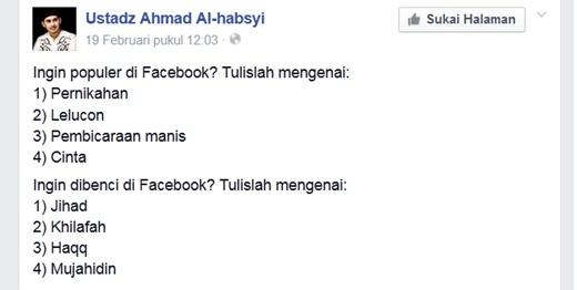 FB ustadz Ahmad Al-Habsyi