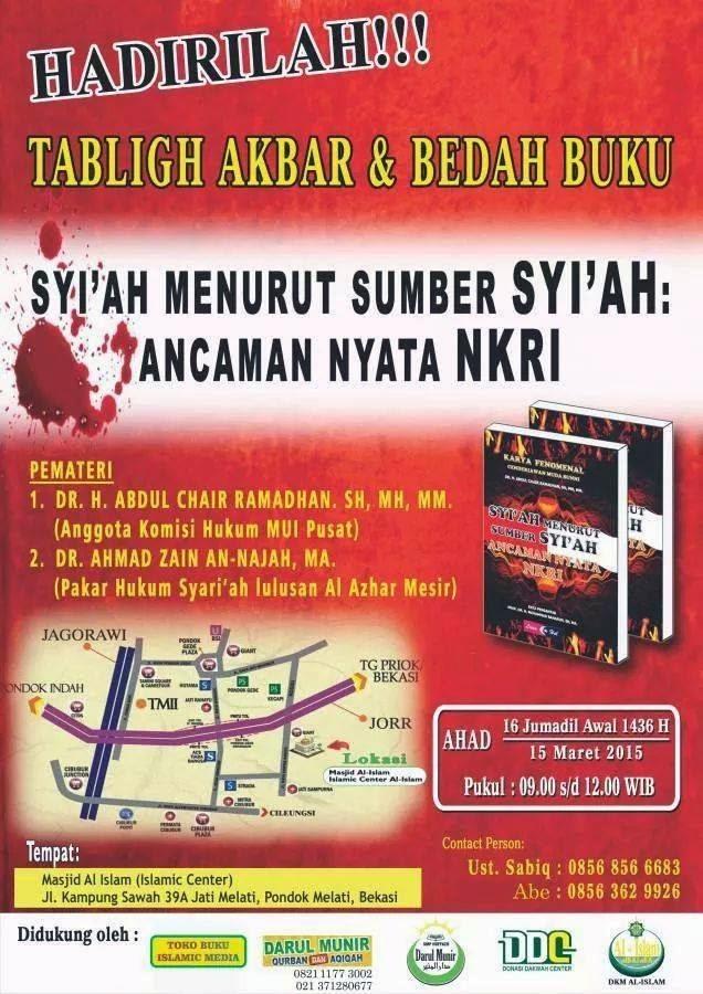 Tabligh Akbar Syi'ah Menurut Sumber Syi'ah, Ancaman Nyata NKRI di Bekasi