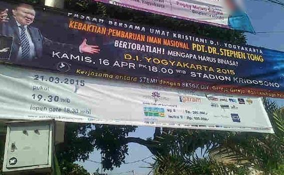 Kebaktian Pembaruan Iman Nasional di Jogja