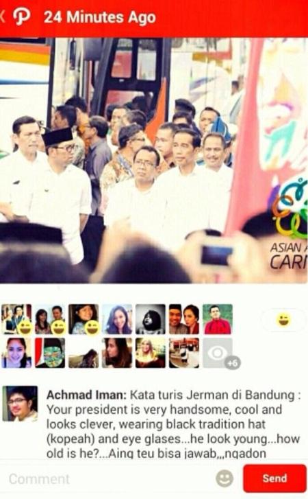 Ridwan Kamil & Jokowi di Path
