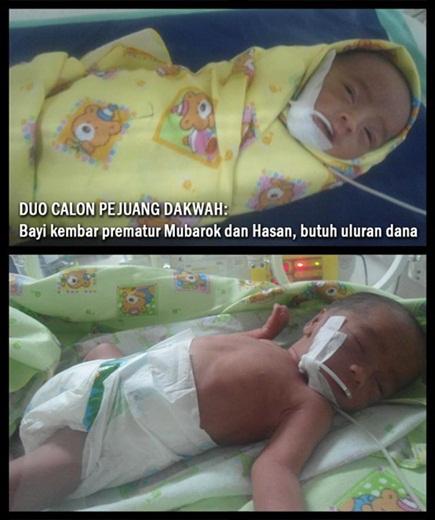 Bayi Kembar Aktivis Dakwah Lahir Prematur di Bekasi 1 - IDC