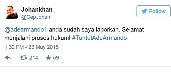 Johan Khan Polisikan Ade Armando