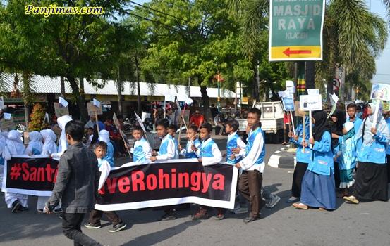Santri TPQ Klaten Save Muslim Rohingya 1