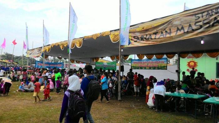 Acara bakti sosial di lapangan Yonif Tajimalela, Bekasi