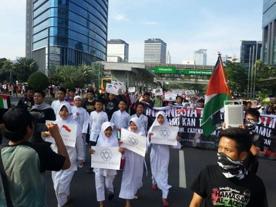 Aksi Palestina di CFD Jakarta