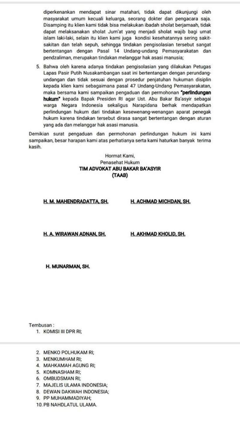 Surat TPM 2