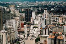 São Paulo- panorama miasta z wieżowca Banespa