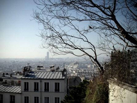 Panorama Paryża ze wzgórza Montmatre