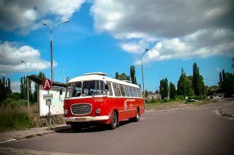 Kultowy Jelcz 043 na usługach Subiektywnej Lini wycieczkowej po Stoczni Gdańskiej