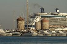 Miasto Rodos- port i wiatraki
