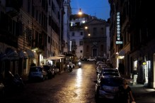 Rzym nocą- Via di Capo le Case