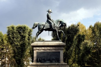 Pomnik Carlo Alberto- Giardino del Quirinale
