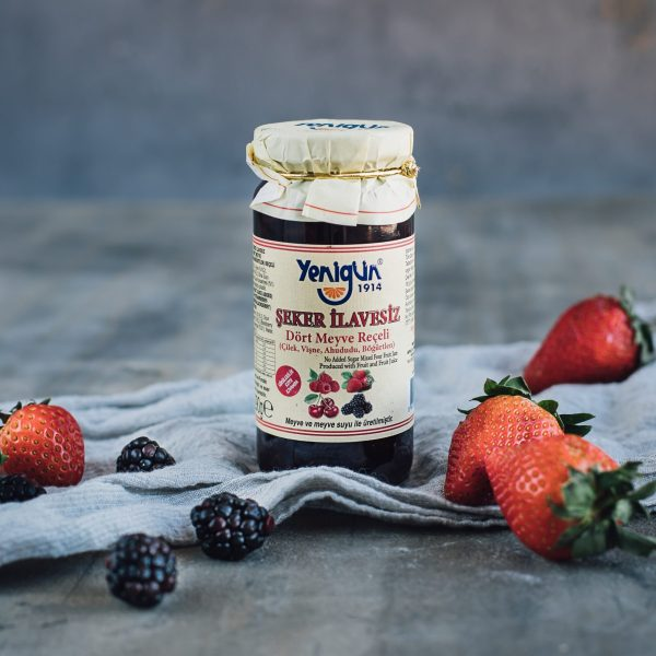 290 G, 4 types of berry jam without sugar addition