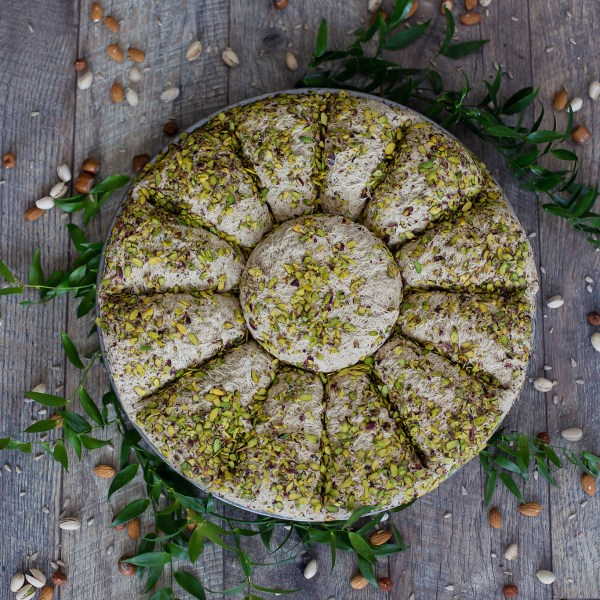 Sesame seeds halva with pistachios (200 gr.)