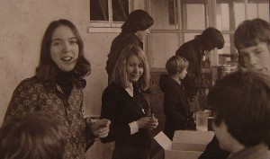 Ice cream kiosk. Christine Brown, Gill Kruger [Price], Steve Pitcher, Simon Colbeck - serving tea, I think.