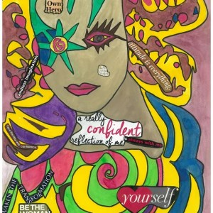 Confident Woman Painting