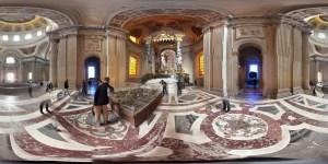 aufgerolltes Geo- Panorama von Frankfurt (Oder) aufgerolltes Geo- Panorama von Paris Invalidendom Grab Napoleon