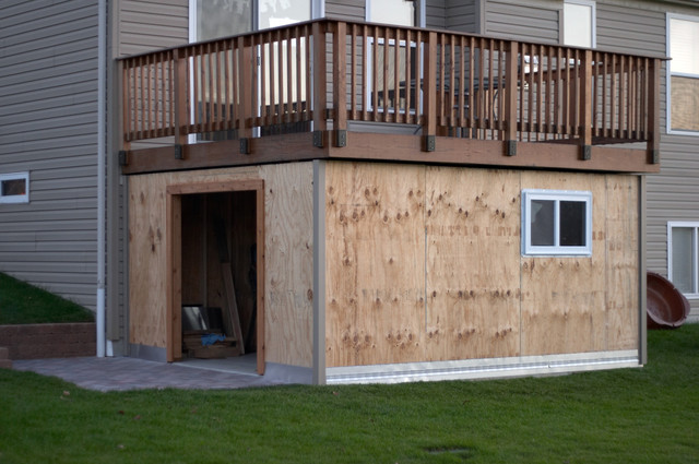 Panofish » Building A Shed Under A Deck