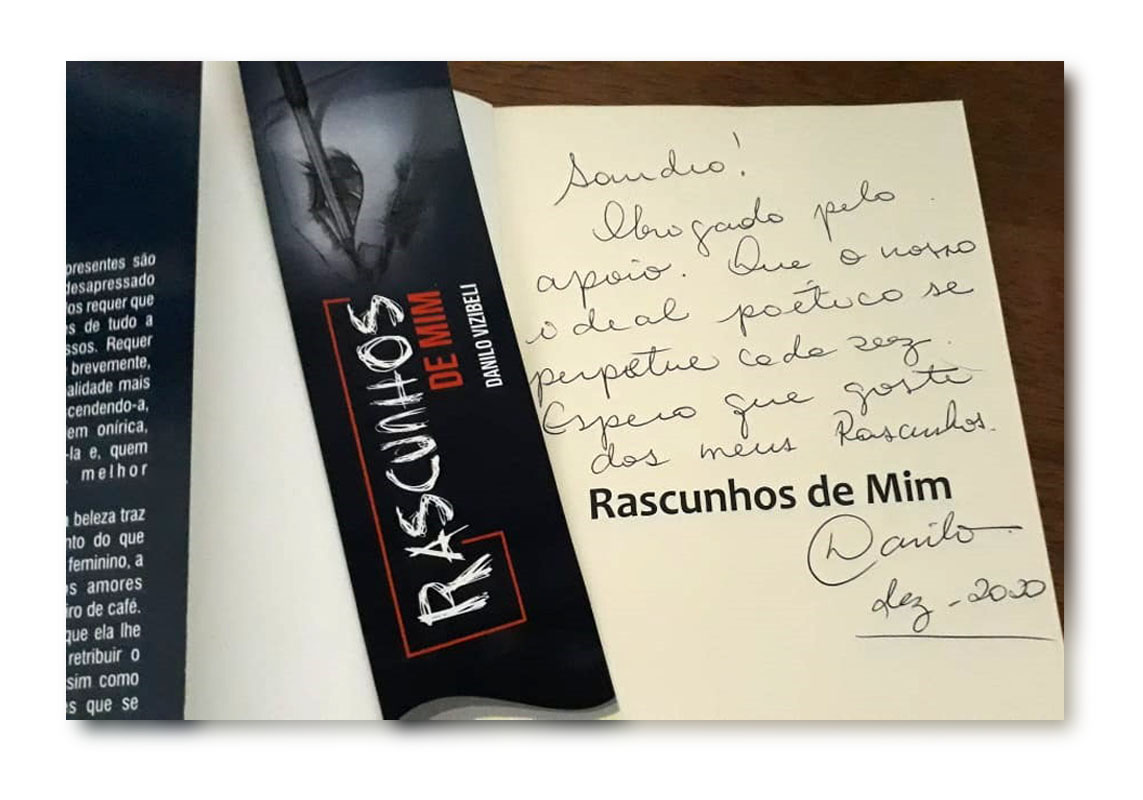 Danilo Vizibeli - Rascunhos de Mim (dedicatória)