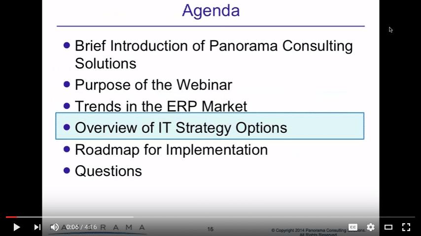 IT ERP Strategy